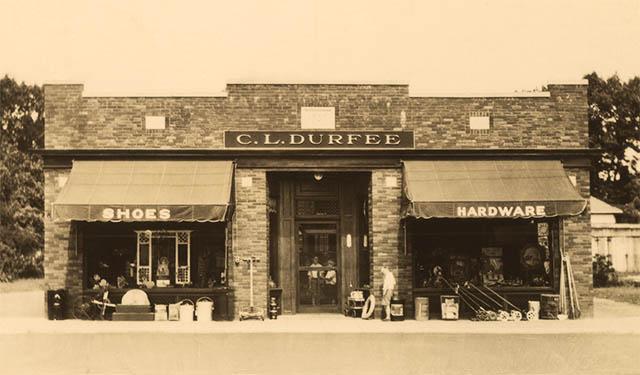 Durfee Hardware Vintage Store Front 1930