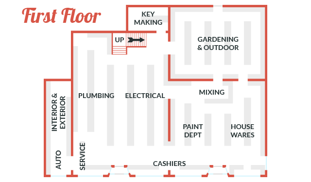 Durfee Hardware Floor Map