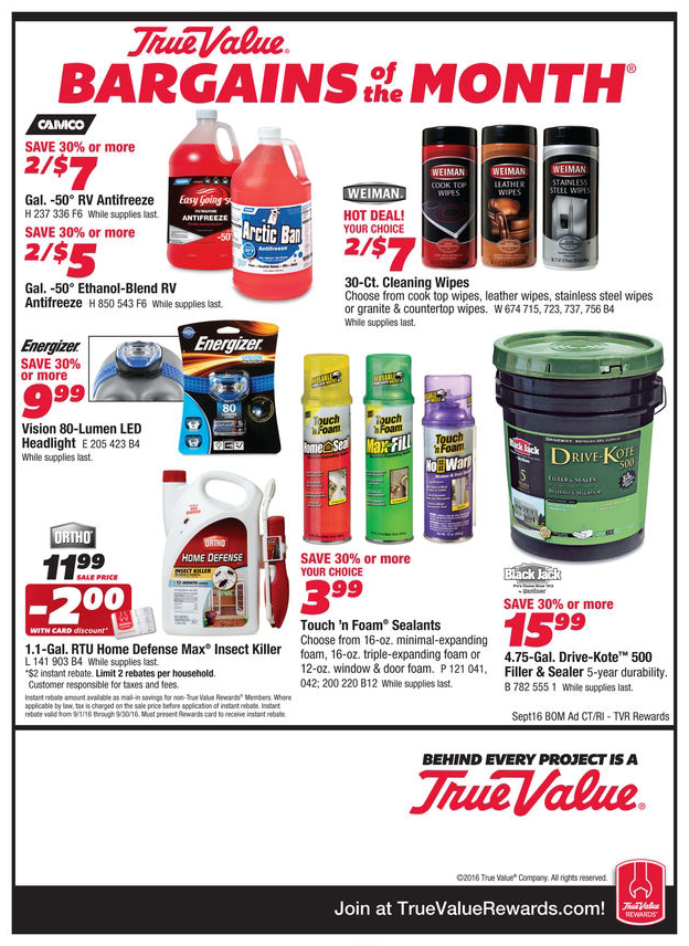 Durfee Hardware Bargains Sept 2016