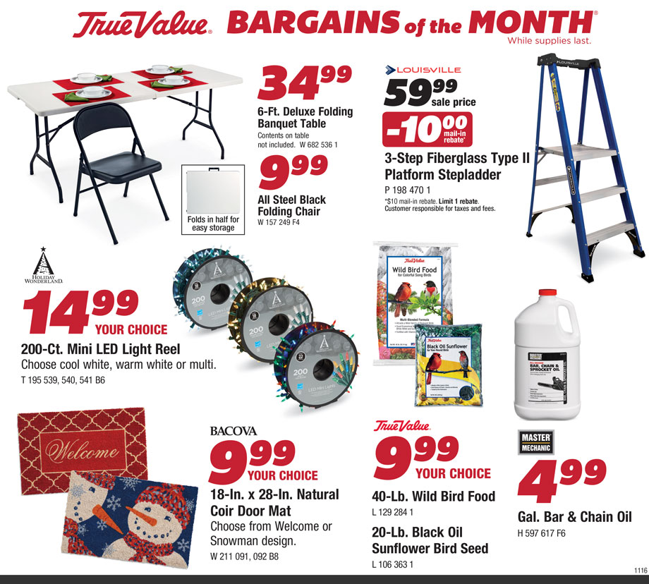 Durfee Hardware Bargains Nov 2016