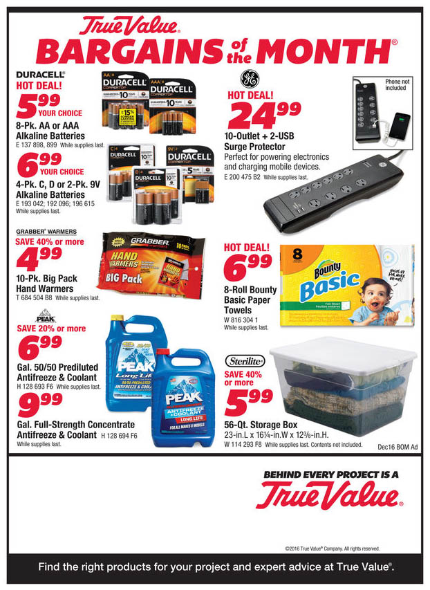 Durfee Hardware Bargains Dec 2016