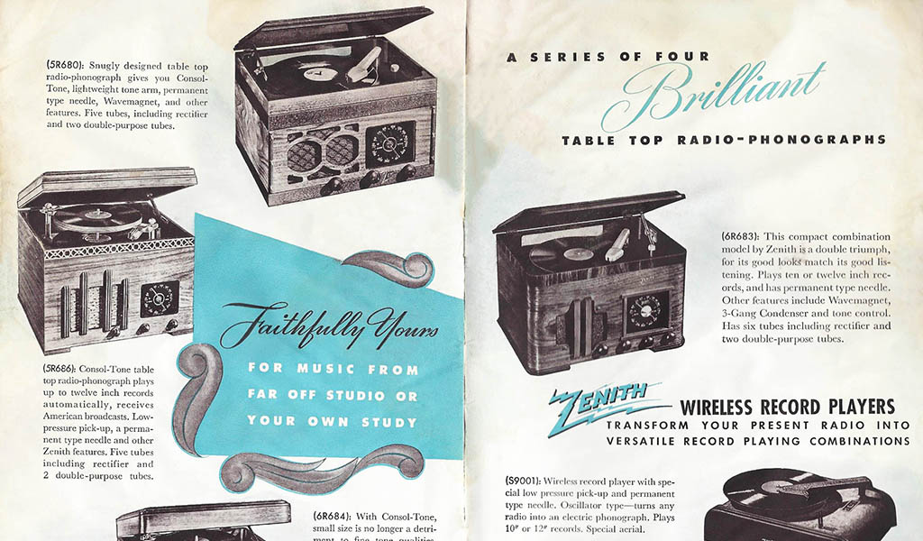 Vintage Record Player Advertisement